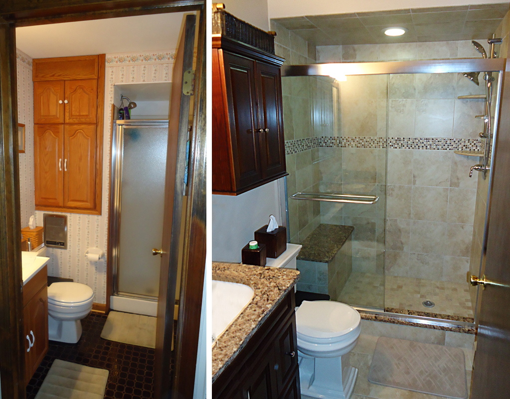 Small bridgewater bathroom remodel skydell contracting inc for Bathroom remodel pics